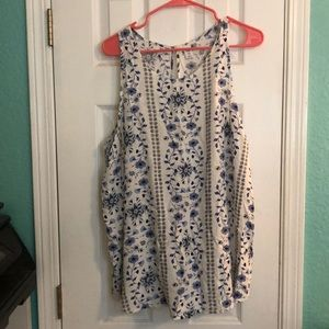 Old navy floral pattern tank top